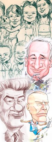Les caricatures et portraits